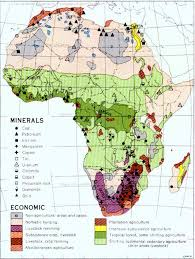 mapa de africa africa minerals and economic activity size