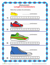 measure a sneaker centimeters worksheet education com