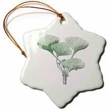 3drose print of ginkgo biloba vintage plant sketch snowflake