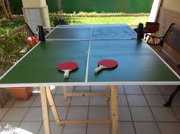 What Are The Dimensions Of A Ping Pong Table by Easy Folding Ping Pong Table 4 Steps With Pictures