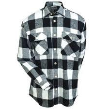 Flannel Shirts Rothco Shirts S 4739 Wht White Black Buffalo Plaid Flannel Shirt