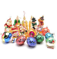 collection of christopher radko ornaments and other