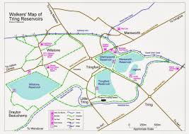 Hertfordshire England Map by Friends Of Tring Reservoirs Nature Reserve Maps Walks And Links