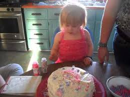 3 year old decorating her birthday cake youtube
