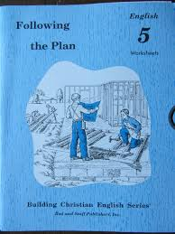 following the plan english 5 worksheets building christian