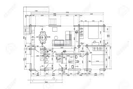 floor plan drawings floor plan blueprints engineering and architecture drawings stock