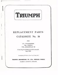 triumph parts manual book 1960 1961 u0026 1962 bonneville t120