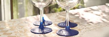 wine glass party favor diy chalkboard wine glasses party favor right home