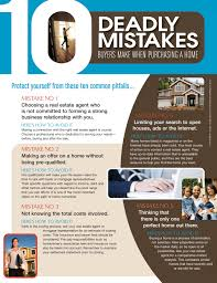 10 deadly mistakes buyers make when purchasing a home catherine