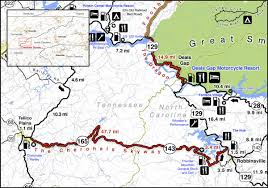 Map Of Pigeon Forge Tennessee by Ride Maps Smoky Mountain Motorcycle Rider