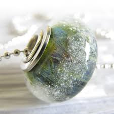 cremation ashes glass cremation ashes bead jewelry simple sterling silver