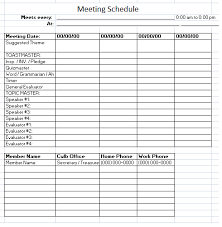 meeting schedule template u2013 10 free templates schedule templates