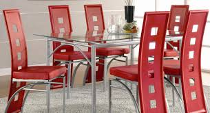 dining marvelous red glass dining table and chairs satisfying