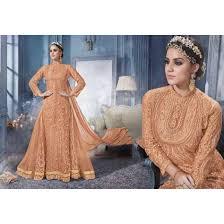 apricot color churidar kameez sku no dfz5674 84320