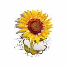 Sunflower Home Decor Pag Sticker 3d Wall Clock Decals Sunflower Diy Wall Sticker Home