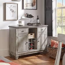 eleanor grey two tone wood wine rack buffet server by inspire q