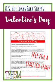 free printable holiday fact sheet about valentine u0027s day the