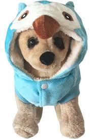 light blue cute owl pet dog halloween costume