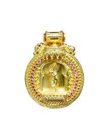 krishna gold pendant devotionalstore