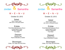 wedding menu template printable cards diy wedding u2022 40064