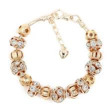gold bead charm bracelet images New arrival free shipping romantic 18k gold plated bead charm jpg