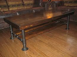 wood and pipe table rustic industrial reclaimed wood pipe coffee table rustic