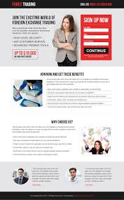 best forex trading lead capture landing page design templates from