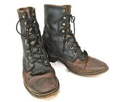 mens lace up boots tsaa heel