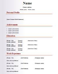 free resume templates word document resume template and