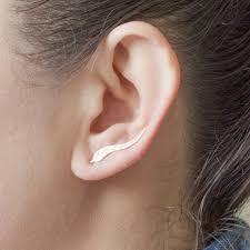ear climber earrings doreenbeads women stud earrings leaf ear climbers ear