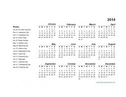 calendar template 2014 with holidays c to f