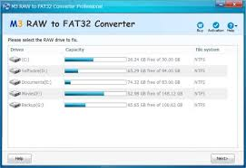 converter raw m3 raw to fat32 converter download