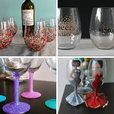 how to paint on wine glasses and a roundup of ideas for painting