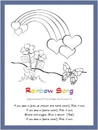 rainbow hearts butterfly coloring free printable