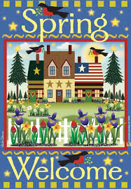 amazon com jeremiah junction garden flags welcome spring arts