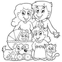 family coloring pages surfnetkids