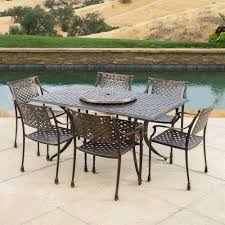 best selling home decor vista patio set with lazy susan lowe u0027s