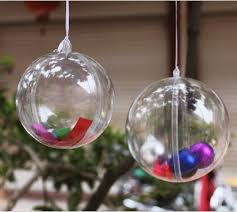 new arrival 7cm clear plastic ball candy box christmas ornament
