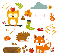 thanksgiving leaves clipart free cute autumn animal clip art and planner stickers free