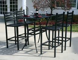 Iron Patio Table And Chairs Pub Patio Furniture Bar Outdoor Chairs For Style Design 4 Bar