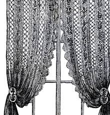 Antique Lace Curtains Vintage Lace Curtains Clip The Graphics