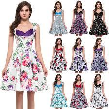 desigual 50s women summer dress sleeveless vintage dresses knee