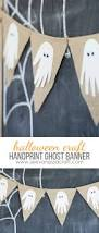 halloween handprint ghost banner see vanessa craft