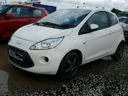 2009 09 ford ka 1 2 petrol 3 door white damaged salvage repairable