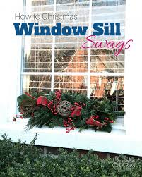 how to make christmas window sill swags for a holiday home