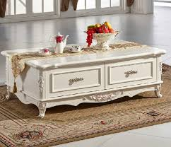 Ivory Coffee Table European Style Wood Carving Coffee Table Ivory Md14j8 880312