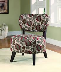 amazon com coaster accent chair with oblong pattern in dark brown