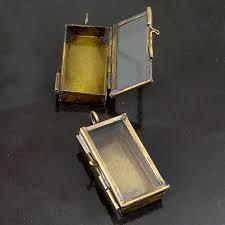 box lockets 4 our glass locket jewelry shadow box rectangle vintage brass