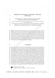 historical climatology in europe u2013 the state of the art pdf