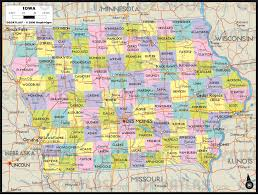 iowa map with cities geoatlas united states canada iowa map city illustrator